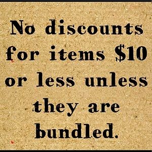 Items $10 or less have to be bundled